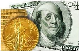 Pièce d'or, billet dollars