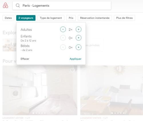 Capacité accueil airbnb saisonnier